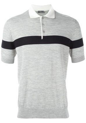 Dior Homme contrast stripe polo shirt