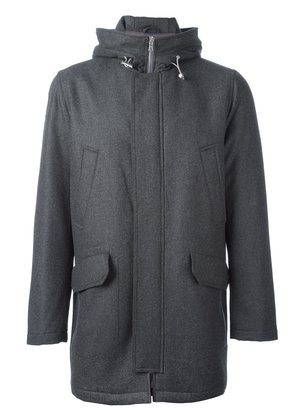 Eleventy hooded zip-up coat