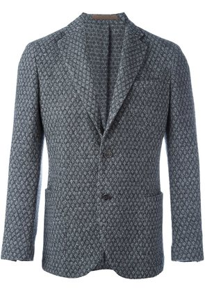 Eleventy patterned single button blazer