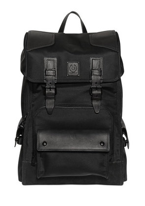 ROAD MASTER NYLON & LEATHER BACKPACK
