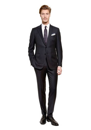 PIN STRIPED WOOL SUIT