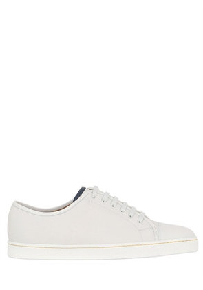 SUEDE SNEAKERS WITH LEATHER TRIM & TOE