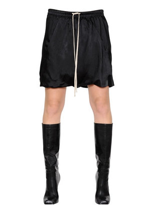 VISCOSE SATIN PANELLED SHORTS