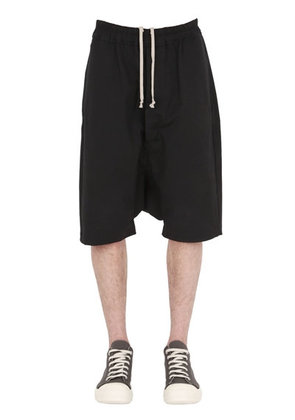 STRETCH COTTON TWILL BERMUDA SHORTS
