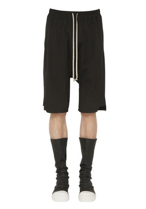 STRETCH COTTON JERSEY SHORTS