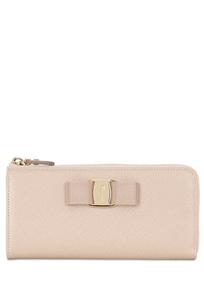 BOW SAFFIANO LEATHER WALLET