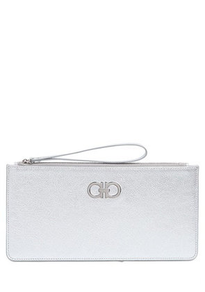 GANCINI LAMINATED LEATHER POUCH