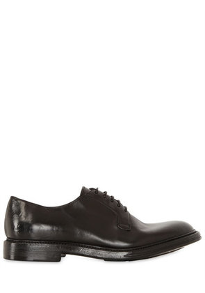 WASHED HORSE LEATHER DERBY SHOES