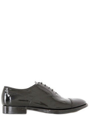 BRUSHED LEATHER OXFORD LACE-UP SHOES