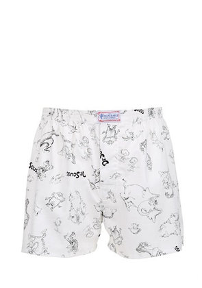 DR. SEUSS DRAWINGS PRINTED COTTON BOXERS