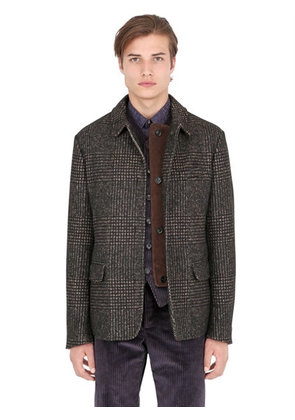 PRINCE OF WALES ALPACA & COTTON JACKET