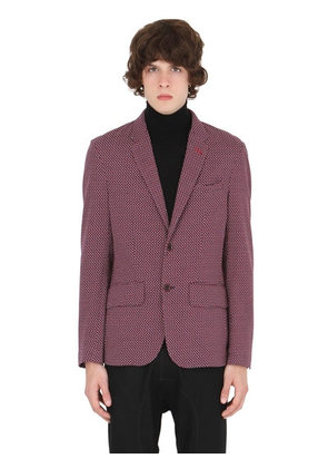 GEOMETRIC COTTON JACQUARD JACKET