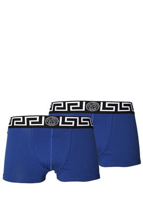 2 PACK LOGO STRETCH JERSEY BOXER BRIEFS