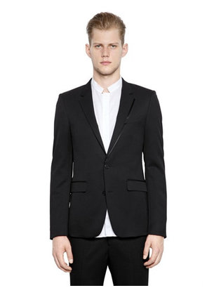 WOOL BLEND TWILL JACKET