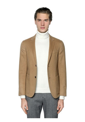 WOOL & CAMEL HAIR CLOTH BLAZER