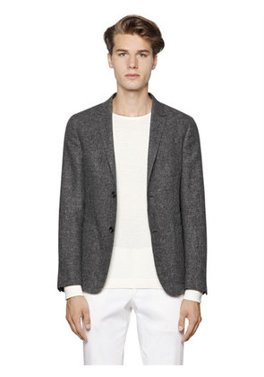COTTON & LINEN SUMMER TWEED BLAZER