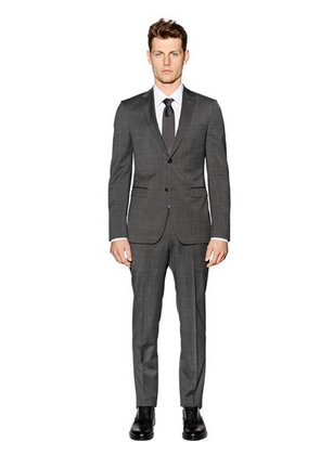 SUPER FINE WOOL & MOHAIR BLEND SUIT