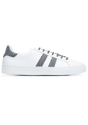 Eleventy striped panel sneakers