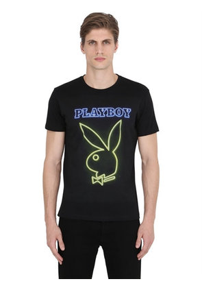 BUNNY PRINTED COTTON JERSEY T-SHIRT