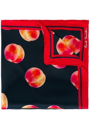 Paul Smith peach print pocket square