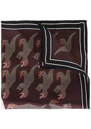 Paul Smith dinosaur print pocket square