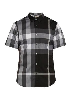 House check short-sleeved shirt