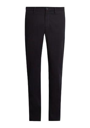 Cotton straight-leg chino trousers