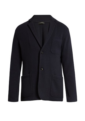 Single-breasted wool and cashmere-blend jacket