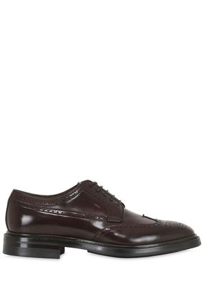 BRUSHED HORSE LEATHER BROGUE DERBY SHOES
