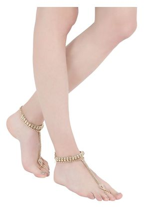 VIPERS GOLD PLATED TOE RING ANKLETS