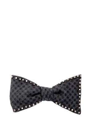 METAL EMBELLISHED SILK WOOL BOW TIE