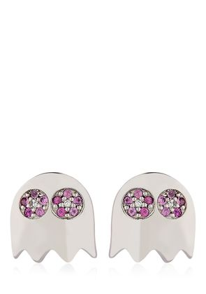 LEVEL 256 PAC-MAN PINK SAPPHIRE EARRINGS