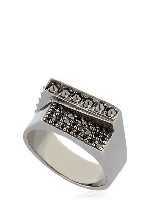 CHAOS BLACK RHODIUM PLATED RING
