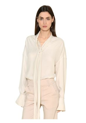 SILK CREPE ENVERS & SATIN SHIRT