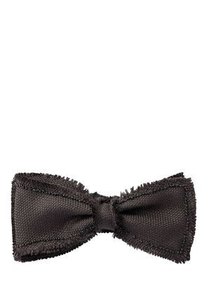 RAW CUT & BEADED SILK BOW TIE
