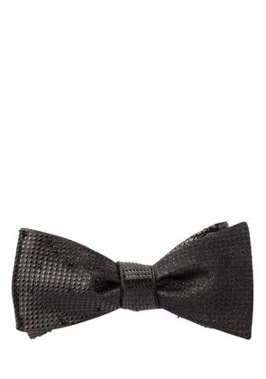 BEADED SILK BOW TIE
