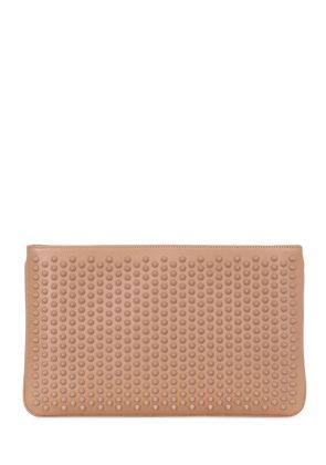 LOUBIPOSH SPIKED LEATHER CLUTCH