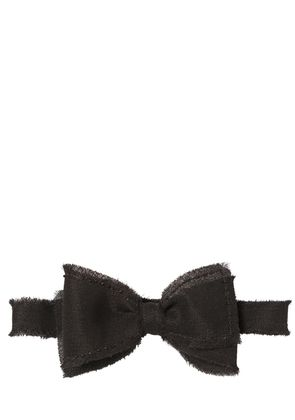 HAND-BEADED WOOL GAUZE BOW TIE