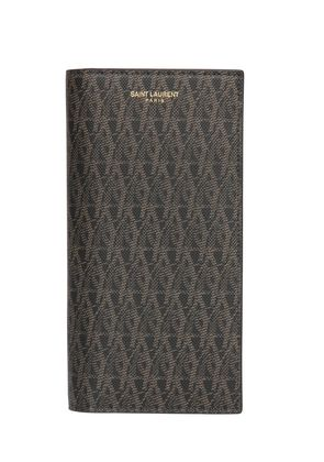 MONOGRAM FAUX LEATHER WALLET