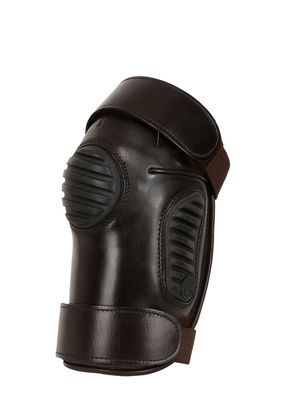 LEATHER & RUBBER POLO KNEE PADS