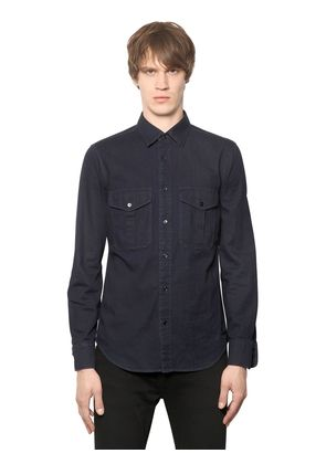 LIGHT COTTON DENIM SHIRT