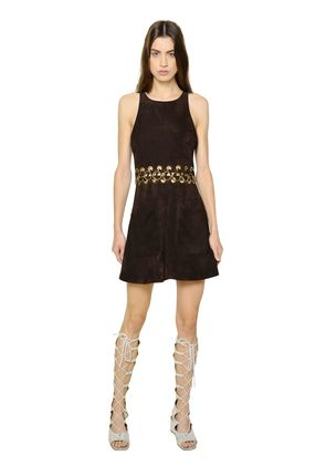 SUEDE DRESS WITH LACING DETAIL