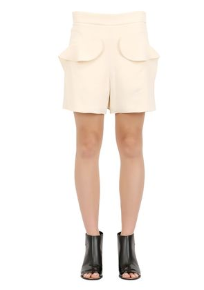 TEXTURED LIGHT CADY SHORTS