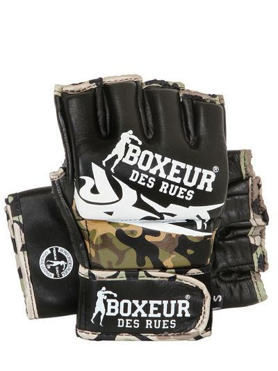 TRIBAL LEATHER MMA GLOVES