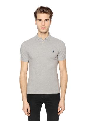 SLIM FIT LOGO COTTON PIQUÉ POLO