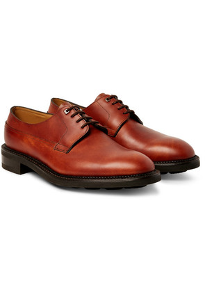 John Lobb - Croft Panelled-leather Derby Shoes - Brick