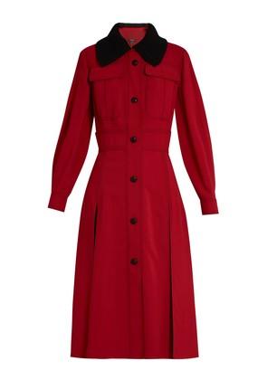 Contrast-stitch cady dress