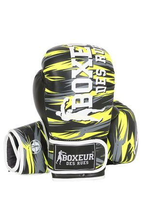 10OZ GEOMETRIC SYNTHETIC BOXING GLOVES