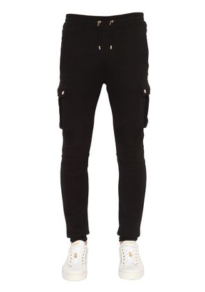 CARGO COTTON JERSEY SWEATPANTS