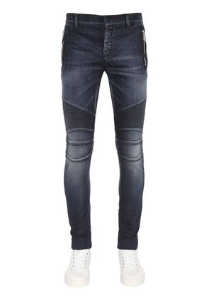 17.5CM BIKER STRETCH DENIM JEANS